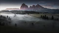 [ ... morningrise ] (D-P Photography) Tags: landscape landschaft italien italy dolomites dolomiten alps alpi di suisi seiser alm drone aerial dji mavicpro dennis polkläser dpphotography