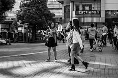 Keep On Trucking (burnt dirt) Tags: asian japan tokyo shibuya station streetphotography documentary candid portrait fujifilm xt1 bw blackandwhite laugh smile cute sexy latina young girl woman japanese korean thai dress skirt shorts jeans jacket leather pants boots heels stilettos bra stockings tights yogapants leggings couple lovers friends longhair shorthair ponytail cellphone glasses sunglasses blonde brunette redhead tattoo model train bus busstation metro city town downtown sidewalk pretty beautiful selfie fashion pregnant sweater people person costume cosplay boobs
