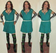 20171209 2116 - fashion show - Clio - teal dress, knee-high pot leaf socks, skeleton arm warmers - 15a1632b25c (triptych) (Clio CJS) Tags: 20171209 201712 2017 fashionshow fashionshow20171209 virginia alexandria clioandcarolynshouse hallway standing dress tealdress bluedress kneehighsock kneehighsocks sock socks kneehigh potleafsock potleafsocks potleaf marijuanaleaf leaf marijuana clothes armwarmer armwarmers skeletonarmwarmer skeletonarmwarmers skeleton chainmailnecklace necklace chainmail triptych clio
