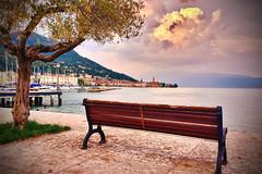 Lake Garda, Salò (djjonatan) Tags: explore lake garda gardalake lakegarda lago italia italy europe europa di lagodigarda nature natura landscape paesaggio panorama tramonto sunset sera evening riva estate djjonatan jonatan djjonatan74 lombardia salò