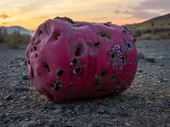 Holey Helium (dwblakey) Tags: california helium owensvalley desert bishop shooting outdoors tank inyocounty evening junk walk unitedstates us