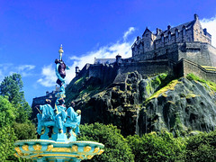 Edinburgh Castle & the recently restored Ross Fountain (FotoFling Scotland) Tags: edinburgh rossfountain restoration edinburghcastle