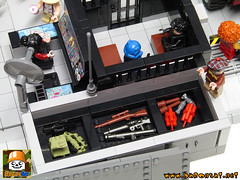 LEGO JOE HQ COMMAND CENTER 06 (baronsat) Tags: lego moc custom gi joe playset hq command center diorama minifigures 334 military 80s 1985 headquarters base vintage action figures comics animated us soldier hasbro army navy air force tv television cobra serie real american hero