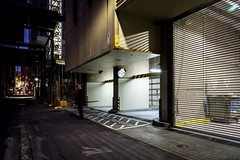Melbourne Lanes 6 (WayneG58) Tags: lines g10 warren garagedoors garage street australia victoria laneways lane melbourne night longexposure