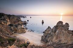 -Algarve- (ppausb87) Tags: sunrise sungoesup sonnenaufgang sun sonne algarve portugal strand beach klippen grotten grotte landscape nopeople water waterscape meer sea atlantik atlantic liebe love passion leidenschaft nikon nikond500 praia praiadocamilo