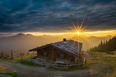 Sonnenuntergang in den Alpen (F!o) Tags: spitzingsee bayern deutschland wildfeldalm rotwand alm almlandschaft almen sonnenstern sunstar nikon20mm 18