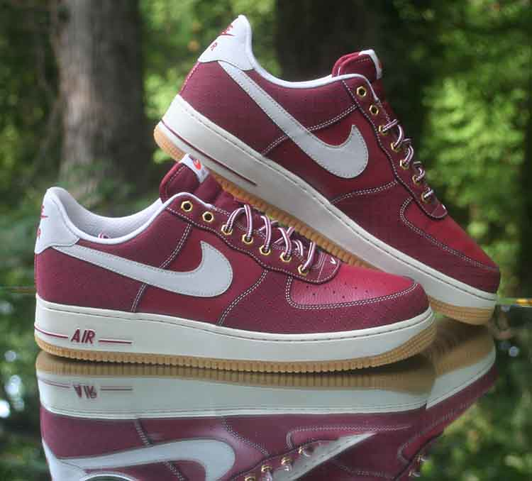 size 40 11273 88fbf Nike Air Force 1 Low Team Red Light Bone Gum 488298-625 Men s Size 12
