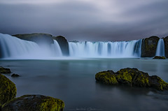 Godafoss (_Amritash_) Tags: goðafoss godafoss waterfall longexposure longexposurejunkie rocks flow clouds landscape travel places weather iceland icelandiclandscapes river skjálfandafljót