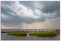 Sandy Hook Bay (richpope) Tags: newjersey sandyhook gatewaynationalrecreationarea sandyhookbay raritanbay jerseyshore sky sea storm nj downtheshore thunderstorm
