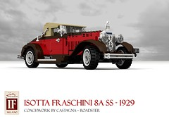 Isotta Fraschini 8A SS - Castagna Roadster (lego911) Tags: isotta fraschini 8a ss roadster castagna convertible speedster straighteight italy italian 1929 1920s classic vintage oldtimer luxury exclusive auto car moc model miniland lego lego911 ldd render cad povray