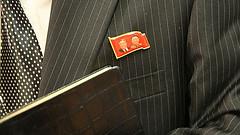 North Korean Leaders' Portrait Badges 'Merchandized' in Local Markets (Hsnews.us) Tags: badges korean leaders local markets merchandized north portrait