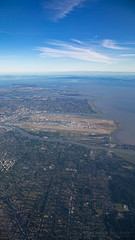 YVR (Lee Rosenbaum) Tags: gulfislands fraserriver airport landscape airplane islands water mountains britishcolumbia yvr clouds vancouver tsawwassen vancouverisland ocean richmond ladner river aerialphotography pointroberts windowseat canada ca