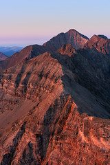 Castle Peak at sunrise (Matt Payne Photography) Tags: 14er 14ers castlepeak cathedralpeak climbing colorado conundrumpeak elkmountains landscape mountains red sunrise