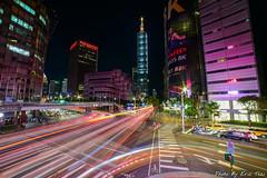 DSC_2703 (承恩仔) Tags: 台北 101 夜景 車軌 基隆路 信義路 天橋
