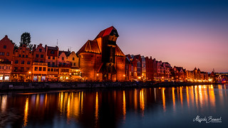 Blue hour in Gdańsk