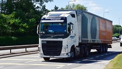 YP67 NHC (Martin's Online Photography) Tags: volvo fh4 truck wagon lorry vehicle freight haulage commercial transport a580 leigh lancashire nikon nikond7200