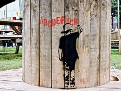 Hengelo Street Art (Akbar Sim) Tags: hengelo holland nederland netherlands streetart stencil stencilart akbarsim akbarsimonse abcdefuck
