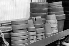 Clay Pots (PMillera4) Tags: claypots gardening plants pots blackandwhite