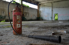 We've Lost the Battle and the War (gregador) Tags: westpittsburg decayed abandoned urbex urbanexploring urbanexploration fireextinguisher industry