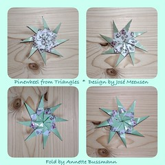Pinewheel from Triangles (José Meeusen) 1 (AnkaAlex) Tags: paperfolding papercraft paper paperfoldingart