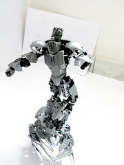 [BIO-CUP 2018] The Silver Surfer (from MARVEL universe) (Cѳpnfl) Tags: lego moc bionicle ccbs marvel comics silversurfer silver ag element biocup 2018