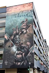 'F*ck Walls, Dig Tunnels' (2017) (just.Luc) Tags: rabbits konijnen lapins kaninchen streetart urbanart think meaning protest political wall muur mur mauer allemagne deutschland duitsland germany berlin berlijn graffiti grafitti europa europe