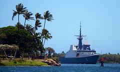 The Republic of Singapore navy frigate arrives for RIMPAC 2018.
