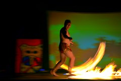 Fire on Stage (Kirt Edblom) Tags: loreto loretomexico mexico islandsofloreto resort spa fire spinning villadelpalmar vacation vdp wife gaylene milf stage bcs baja bajacaliforniasur scenic seaofcortez show danzantebay danzante kirtedblom kirt edblom easyhdr hdr nikon nikond7100 nikkor18140mmf3556 handheld may 2018 gulfofcalifornia motion