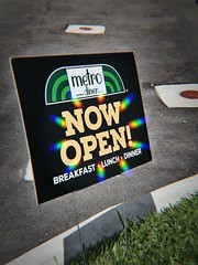 New Eatery (LarryJay99 ) Tags: signage signs publicspace colors colorburst eatery restaurants diners metrodiner