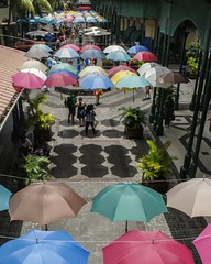 Port Louis Waterfront, Mauritius. (Arranion) Tags: canon eos 20d mauritius portlouis port louis travel travelphotography colour umbrella kit lens eye catching vibrant