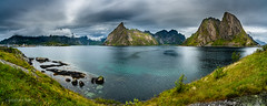 Panorama Hamnoya (Norway) (christian.rey) Tags: panorama hamnoy kjerkfjorden lofoten island paysage landscape sony alpha a7r2 a7rii 1635