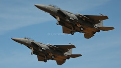 PAIR OF F-15 EAGLES (MANX NORTON) Tags: f22 raptor f35 lightning f15 eagle f16 falcon raf lakenheath usaf