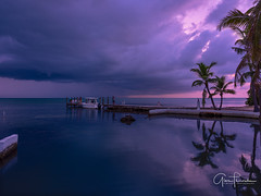 Calm Before The Storm (Thüncher Photography) Tags: fujifilm fuji gfx50s fujigfx50s fujinongf3264mmf4rlmwr mediumformat scenic landscape waterscape nature outdoors sky clouds colors sunset reflections storm tropical island palmtrees boat harbor dock pier florida floridakeys southflorida milemarker685 limetreebayresort longkey