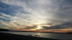 Cloudy Sunset (JSmith007) Tags: sunset sea nature dusk sky beach cloudsky water summer outdoors landscape coastline scenics sun tranquilscene cloudscape sunlight reflection vacations beautyinnature