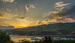 Beautiful Sunset Over Clarkston Marina
