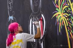 Komparsera (Juan Ig. Llana) Tags: bilbao bilbo euskadi españa es astenagusia fiesta komparsa mural pincel pintura rojo pelo colores chica gente