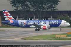 9M-AFV   Airbus A320-216   AirAsia (james.ronayne) Tags: 9mafv airbus a320216 airasia aeroplane airplane plane aircraft jet jetliner airliner aviation flight flying singapore changi sin wsss canon 80d 100400mm raw