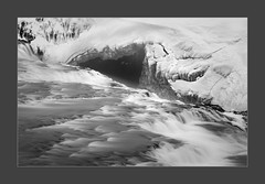 Gulfoss IV (W.Utsch) Tags: iceland waterfall landscape ice gulfoss bnw