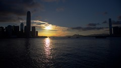 Away from hustle and bustle (Geoff Main) Tags: buildings canon6d canonef24105mmf4lisusm dusk hongkong hongkongisland skyscraper sunset victoriaharbour