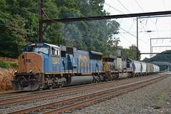 CSX Q438-21 @ Woodbourne, PA (Dan A. Davis) Tags: csx freighttrain locomotive train sd70ac ac44cw cw44ac q438 woodbourne langhorne pa pennsylvania