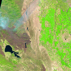 Mendocino Complex, 13 August 2018, variant (sjrankin) Tags: 16august2018 edited sentinel2 california northerncalifornia smoke fires wildfires l1ct10seja01641220180813t185918 centralvalley coastrange marysvillebuttes fire clearlake mendocinocomplex ranchfire riverfire burnscar esa europeanspaceagency large 1787mb