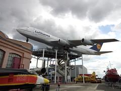 Lufthansa Boeing 747 in the Museum (fraktalisman) Tags: lufthansa boeing 747 jumbo jet airplane plane museum speyer germany technikmuseum