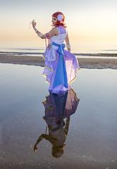 _MG_9026 (Mauro Petrolati) Tags: elisa maki nishikino cosplay cosplayer love live alba sunrise beach spiaggia mare sea rimini comix 2018 angel specchio specchiare riflesso water acqua reflection mirror reflected idol muse