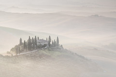 ghost (shutterbug_uk2012) Tags: italy tuscany soft ethereal landscape mist dawn sunrise pastel brick cypress trees farmouse valley light layers hills 7041 swirl ghostlike lone shrouded cloaked revealed dreamy colour sandals white robe ommmmmm 3