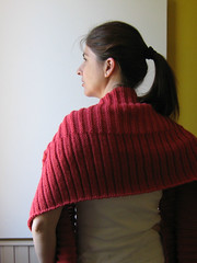 Coral Red Wool Scarf (brandacrafts) Tags: scarf knits welted coralred branda