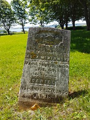 Day 1 - Old Grave Marker at St Patricks Church (Bobcatnorth) Tags: stpatrickschurch grandriver princeedwardisland canada summer 2018 pei cycling bicycle touring bicycletouring camping sightseeing