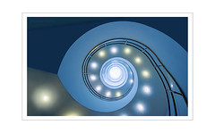 your sparkling eyes . . . (photoarchiv65) Tags: art stairs spiral architecture blue turquoise sternennebel stellarnebulae stardust