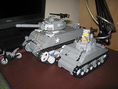 Sherman Tanks! (Jumbo + BattleBrick) (thelameguitarist) Tags: lego ww2 sherman tank