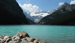 Lake Louise .. R & R (Mr. Happy Face - Peace :)) Tags: lake canadaparks art2018 louise fairmount chateau rockies snowcaps summertime natural beauty sky cloud flickrfriday yyc flickrfriends nwn tuesdayclouds