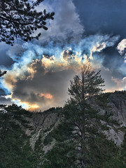 (shadowplay) Tags: fire smoke sunset twinlakes mammoth tamaracklodge